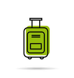 Line icon - suitcase for a vacation trip vector