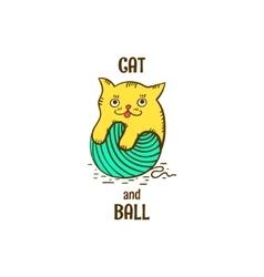 Logotype kitten vector image vector image