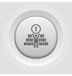 Market leader icon business concept vector