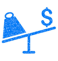 Market price swing grunge icon vector
