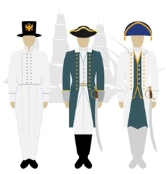 Officers of the Russian fleet-3 vector image vector image