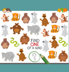one of a kind with animals vector image vector image