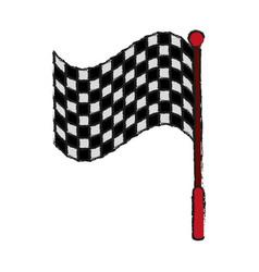 Racing flag draw vector