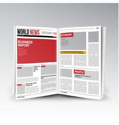 Reading world business news open newspaper vector