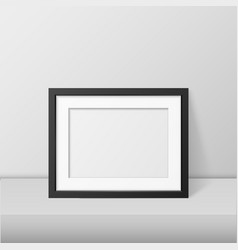 realistic blank picture frame template set vector image vector image