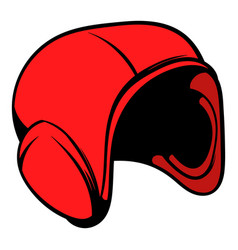 Red helmet icon icon cartoon vector