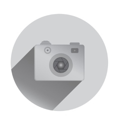Retro camera icon with shadows flat design vector image