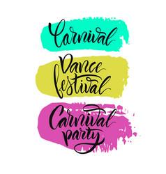 Script logo carnivaldance festivalcarnival party vector
