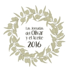 sketch of olive tree branch Festival vector image