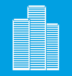 Skyscrapers in singapore icon white vector