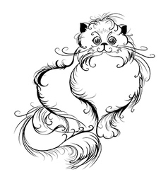 Stylized persian cat vector