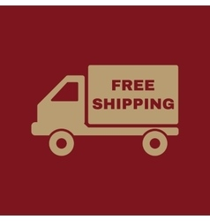The free shipping icon delivery and vector