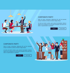 web page of people partying vector image vector image