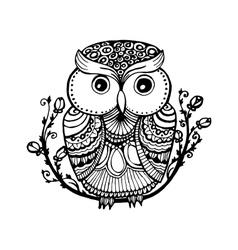 Zentangle style owl Isolated with vector image vector image