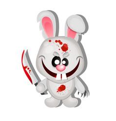 mad bunny halloween vector image