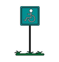 Wheelchair sign vector