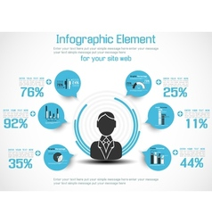 Infographic modern people business new style 2 vector
