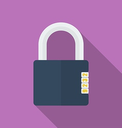 Icon of Padlock with code combination Modern vector image