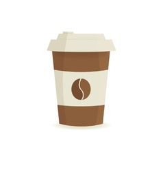 Paper coffee cup on a white background vector image