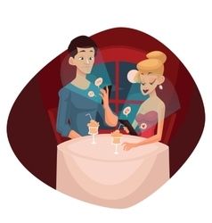 date loving couple and mobile phone vector image