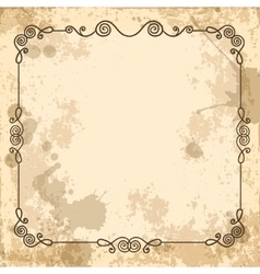 Calligraphic frame on the old background vector