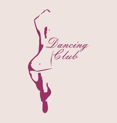 beautiful dancing woman vector image vector image