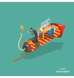Career development isometric flat concept vector image vector image