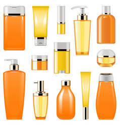 cosmetic packaging icons set 8 vector image vector image