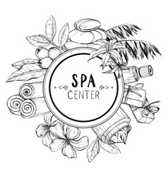design for spa and beauty salon vector image