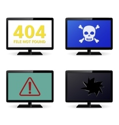 Error Sign on LCD Monitor Screens vector image vector image