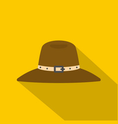 hat icon flat style vector image vector image