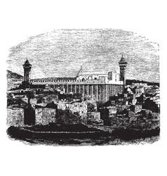 Hebron vintage vector