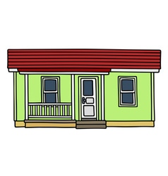 Light green low house vector