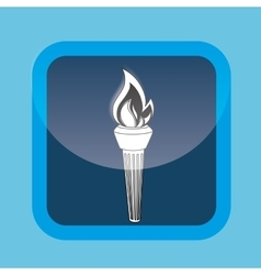 Olympic torch design vector image