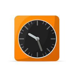 Retro alarm clock icon vector