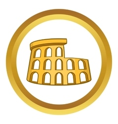 Roman coliseum icon vector