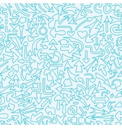 Seamless pattern with different arrows vector image vector image