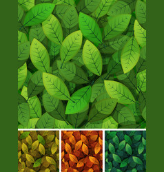 seamless spring and seasons leaves vector image vector image