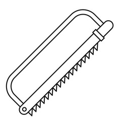 Sergical saw icon outline style vector