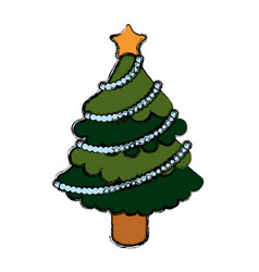 Tree pine christmas vector