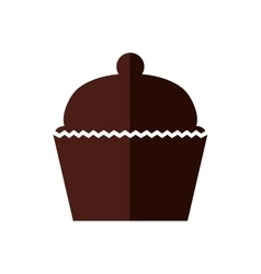 Cupcake muffin dessert sweet icon graphic vector