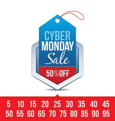 Cyber monday sale badge vector