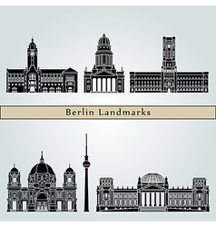 Berlin V2 Landmarks vector image