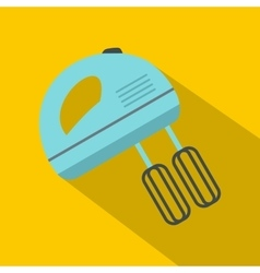 Blue electric mixer icon flat style vector