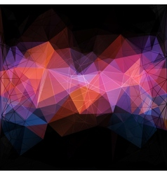 Triangle concept design mosaic vector
