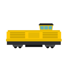 Freight train icon flat style vector