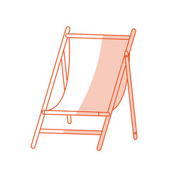 Red silhouette shading image wooden chair for vector