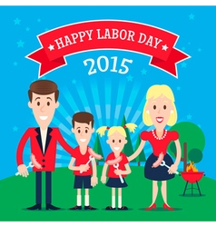 Labor day family vector