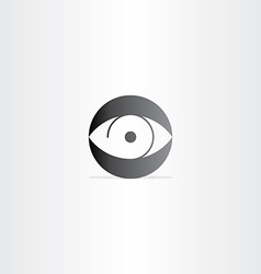 Human eye circle icon vector