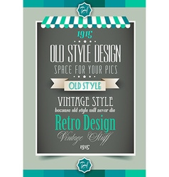 Vintage retro page template vector